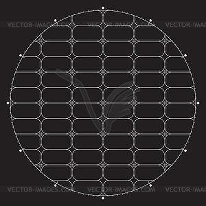 Grid für moderne virtuelle Technologie fantastisch - vektorisiertes Design