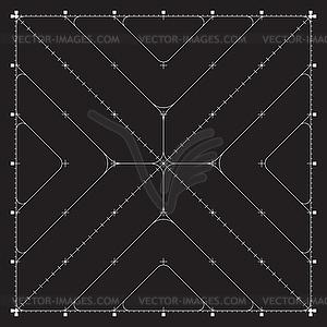 Grid für moderne virtuelle Technologie fantastisch - Stock Vektorgrafik