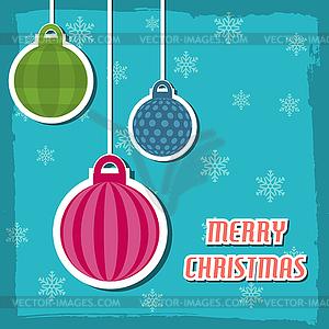Frohe Weihnachten und glückliches neues Jahr Hintergrund - Vektorabbildung
