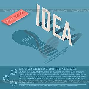 Idee Karte Business-Hintergrund Konzept. desig - Vector-Clipart / Vektor-Bild