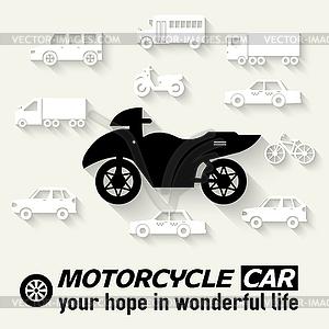 Wohnung Fahrrad Hintergrund Konzept. Tamplate für Web- - Vektor-Clipart / Vektorgrafik