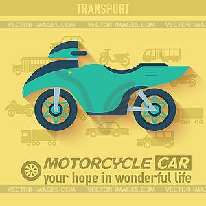 Wohnung Fahrrad Hintergrund Konzept. Tamplate für Web- - farbige Vektorgrafik