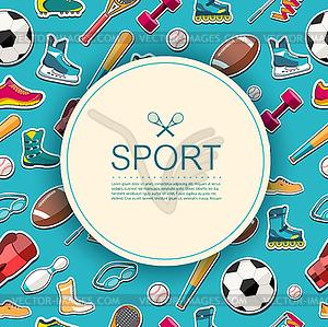 Circular Konzept der Sportwaren Aufkleber - Vector-Design