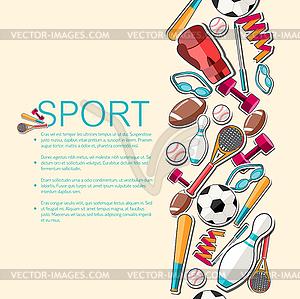 Circular Konzept der Sportwaren Aufkleber - Vektor-Clipart EPS