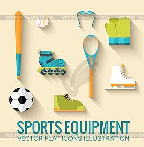 Circular Konzept der Sportwaren Aufkleber - Vektor-Clipart / Vektorgrafik