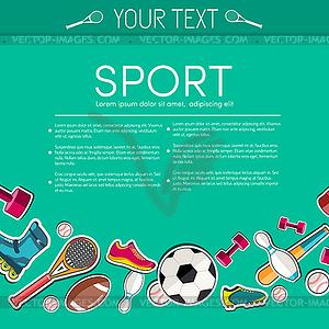 Circular Konzept der Sportwaren Aufkleber - vektorisierte Grafik