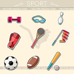 Circular Konzept der Sportwaren Aufkleber - Stock Vektor-Bild