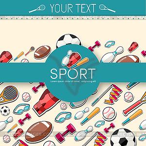 Circular Konzept der Sportwaren Aufkleber - Stock-Clipart
