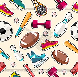Circular Konzept der Sportwaren Aufkleber - Vector-Clipart