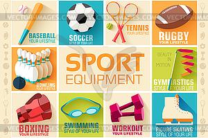 Circular Konzept der Sportwaren Aufkleber - Vektor-Klipart