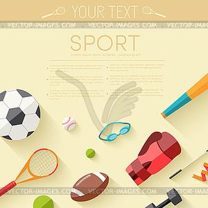 Circular Konzept der Sportwaren Aufkleber - Vector-Illustration