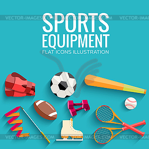Circular Konzept der Sportwaren Aufkleber - Vektor-Bild