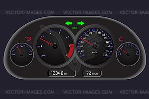 Armaturenbrett, Automobil Bedienfeld - Vector-Clipart EPS