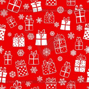 Nahtloses Muster der Geschenk-Boxen - Royalty-Free Vektor-Clipart