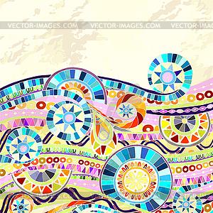 Hintergrund mit geometrischen Mosaikelemente - Vektor-Clipart EPS