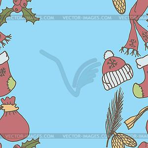 Neues Jahr nahtlose Grenze. Endless Weihnachten Vorlage - Stock Vektorgrafik