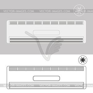 Wand klimaanlage vector clipart eps for Wand klimaanlage