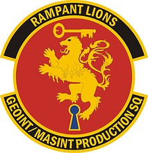 U.S. Air Force Geospatial Intelligence Measurement and Signatures Intelligence Production Squadron, emblem