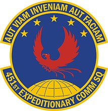 U.S. Air Force 451st Expeditionary Communications Squadron, emblem