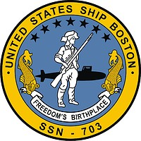 U.S. Navy USS Boston (SSN-703), submarine emblem