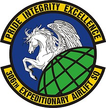 U.S. Air Force 306th Expeditionary Airlift Squadron, emblem