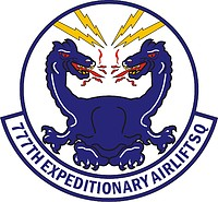 U.S. Air Force 777th Expeditionary Airlift Squadron, emblem