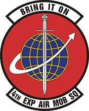 U.S. Air Force 4th Expeditionary Air Mobility Squadron, emblem