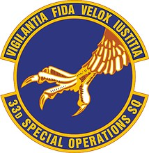 U.S. Air Force 33nd Special Operations Squadron, emblem