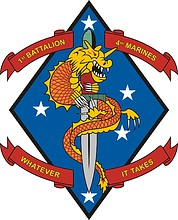 U.S. 1st Battalion 4th Marine Regiment, emblem