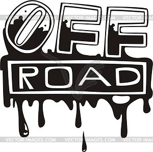 Bloody off-road graffiti - vector clipart