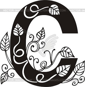 Capital letter C - royalty-free vector clipart