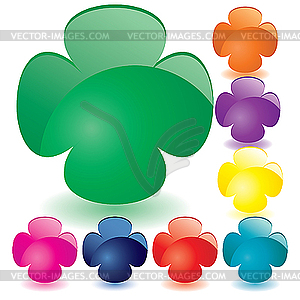 Colored glass buttons - vector clipart / vector image