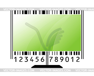 Monitor stylized as barcode - vector image