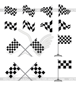 Racing Flags, set - vector clipart