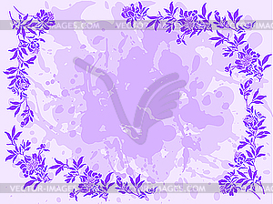 Lilac floral frame - royalty-free vector image
