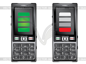Mobile Phone with Keypad - vector image