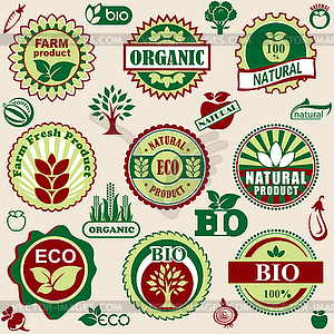 Natural label - vector image