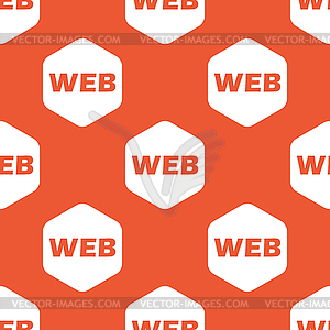Orange hexagon WEB pattern - vector EPS clipart