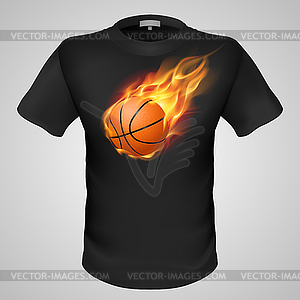Male T-Shirt mit Print - Vector-Illustration