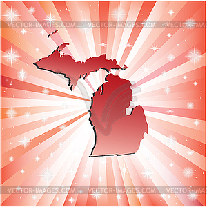 Red Michigan - vector clipart