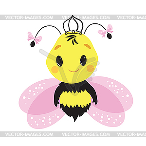 Cute Little Bee - vector clipart