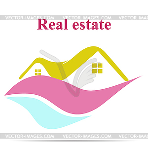 Real estate icon - vector clipart