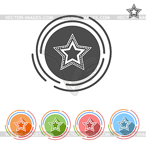 Star flat icon free - vector clipart