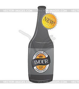 Beer label theme - vector image