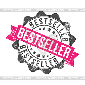 BESTSELLER. Stamp impression with inscription. Old - vector clipart